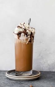 iced coffee mocha with homemade