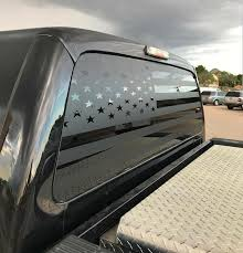 Ford F250 American Flag Custom Decal For Rear Window Truck Onlineamericanstore