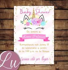 56 Invitaciones De Baby Shower Unicornio Para Editar Babyshower