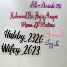 Add On Customize Personalised Name Vinyl Glitter Heat Transfer Vinyl For Fabrics Hijab Shirt Decal Shopee Malaysia