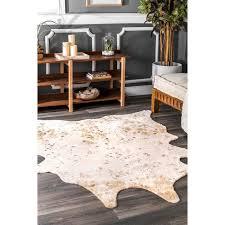 faux cowhide area rug cow hide rug