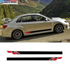 Lattices Racing Vinyl Decal Car Sticker For Subaru Impreza Wrx Sti Door Side Skirt Stripes Auto Body Exterior Accessories Decals Bumper Stickers Color Name Matte Black Style Customized Logo Itrainkids Com