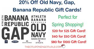 old navy gap banana republic gift cards