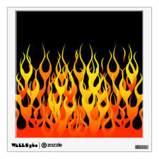 Fire Wall Decals Stickers Zazzle