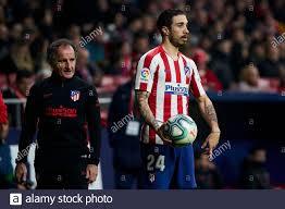 Sime Vrsaljko of Atletico de Madrid in action during the La Liga match  between Atletico de Madrid and Granada CF at Wanda Metropolitano Stadium in  Madrid.Final score; Atletico de Madrid 1:0 Granada