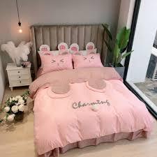 Cartoon Cotton Pink Bedsheet Set My Aashis