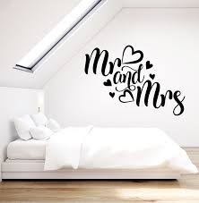 Vinyl Wall Decal Logo Mr And Mrs Love Family Bedroom Decor Stickers Mu Wallstickers4you