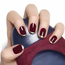 burgundy nails rich manicure color