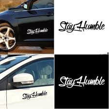 Fate Stay Humble Sticker Racing Car Window Car Pet Applique Simple Letter Decorative Car Sticker Decal Wish