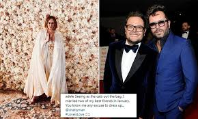Adele paid for best friend Alan Carr's entire wedding | Daily Mail Online
