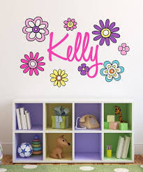 Lollipop Walls Pink Purple Flower Personalized Wall Decal Set Best Price And Reviews Zulily