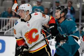 Calgary Flames Byron Froese left San Jose Editorial Stock Photo - Stock  Image   Shutterstock