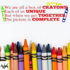 We Are All A Box Of Crayons Wall Decal In 2020 Wall Quotes Decals Wall Decals Kids Wall Decals