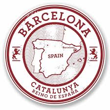 For 2x10cm100mm Barcelona Catalunya Spain Vinyl Self Adhesive Sticker Decal Laptop Travel Luggage Car Pad Sign Fun 5723 Stickers Aliexpress