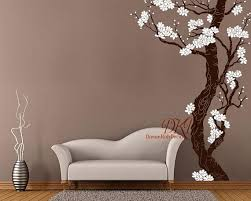 Plum Blossom Tree Wall Decal Large Wall Murals Corner Cherry Blossom Tree Wall Art Hand Painted Sty Vinyl Tree Wall Decal Large Wall Murals Tree Wall Decal