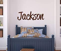 Amazon Com Lucylews Boys Name Wall Decal Bedroom Decor Personalized Name Sticker Handmade