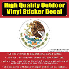 Mexico Flag Symbol Vinyl Car Window Laptop Bumper Sticker Decal Colorado Sticker