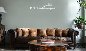 Funny Full Of Vodka Holiday Spirit Alcohol Vinyl Wall Mural Decal Home Decor Sticker