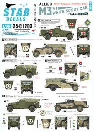 Allied M3a1 White Scout Car Polish Nz South African And British Scout Cars In Italy 1943 45 Decal Hobbysearch Military Model Store