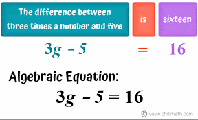 algebraic sentences word problems