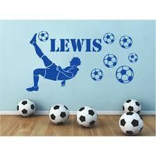Personalised Football Player Custom Name Boys Wall Sticker Kids Bedroom Decal