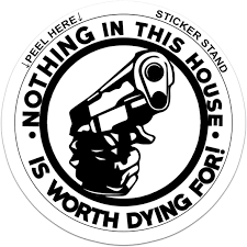 Amazon Com Nothing In This House Is Worth Dying For Funny Die Cut Vinyl Decal Sticker Automotive
