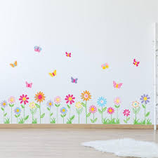 Vinyl Wall Decal Vinyl Wall Decal Stickers Daisy Flowers Etsy