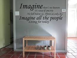 Imagine Wall Art Decal Wall Decal Wall Art Decal Sticker