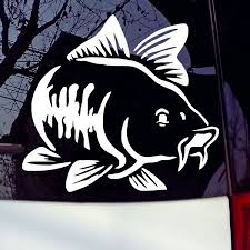 Carp Fishing Car Vinyl Decal Art Sticker Kayak Fishing Car Truck Boat Tribal Wish