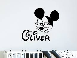 Boys Bedroom Wall Decor Nl233 Boys Personalized Wall Decal Custom Name Mickey Stars Decal Nursery Wall Decor Mickey Mouse Vinyl Stickers Nursery Decor Baby