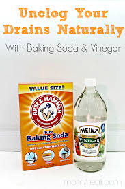 unclog your drains with baking soda and