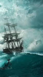 wallpaper pirate ship ocean 4k