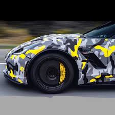 Yellow Black Gray Camouflage Vinyl Wrap Car Wrap Camo Covering Sticker Foil With Air Bubble Free Orino Wraps Car Stickers Aliexpress