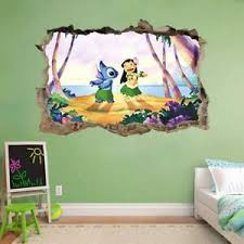 Lilo Stitch Smashed Wall Decal Graphic Wall Sticker Decor Art Disney H380 Ebay