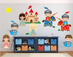 Knight Wall Decal Castle Princess Wall Decal Stickers Fabric Etsy