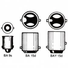 Lampe med bajonetsokkel 12 v