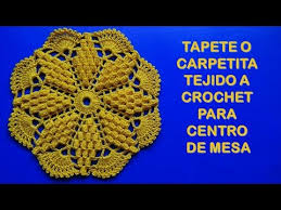 tapete o carpeta tejido a crochet