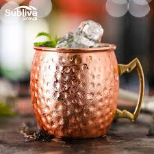 hammered moscow mule copper plated mugs