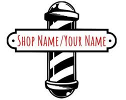Barber Shop Decal Etsy