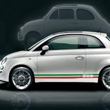 New 2 Pcs Italian Flag Vinyl Pvc Side Skirt Stripes Stickers Decal For Fiat 500 Abarth Car Stickers Aliexpress