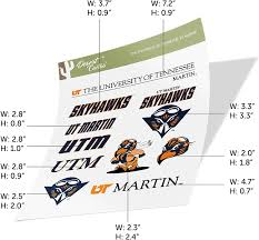 Amazon Com The University Of Tennessee At Martin Utm Skyhawks Ncaa Sticker Vinyl Decal Laptop Water Bottle Car Scrapbook Type 2 Sheet Arts Crafts Sewing