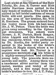 Addie Harrison-John Turner Marriage - Newspapers.com