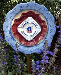 how to make glass plate garden flowers