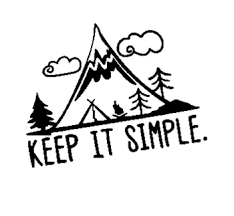 Interesting Camping In Mountain Keep It Simple Vinyl Car Sticker Vivid Window Decal Black Silver Buy Car Rearview Mirror Sticker Vip Car Sticker Painting Car Sticker Product On Alibaba Com