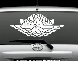 Air Jordan Wings Vinyl Decal Sticker Window Graphics Or Magnet Etsy