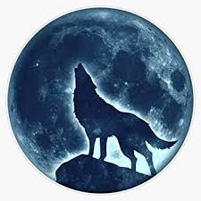 Amazon Com Howling Wolf Full Moon Fullmoon Wild Dog Wolves Vinyl Waterproof Sticker Decal Car Laptop Wall Window Bumper Sticker 5 Automotive