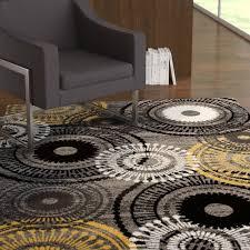 allison abstract yellow gray area rug
