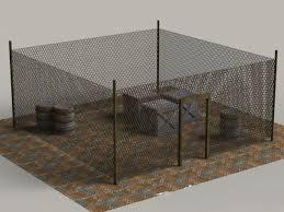 Military Chain Link Fencing 3d Model Cadnav