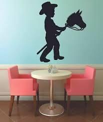 Cowboy Kid Horse Cute Animal Home Kids Room Wall Sticker Vinyl Art Decals Decor Ebay
