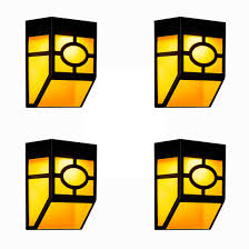 Solar Powered Fence Wall Lights 4 Pack 2 Modes Led Outdoor Waterproof Solar Lamps Best Fence Yard Deck Patio Frontdoor Steps Landscape And Path Way Lighting Decors Warm Yellow Mulitcolor Changin On Galleon Philippines